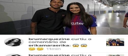Bruna Marquezine choca internautas depois de reagir a foto de Neymar Com Demi Lovato