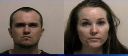 Colby Wilde and Lacey Christenson as seen in their mugshots - YouTube/Taurean Reign