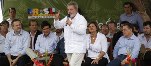 'Eleições presidenciais 2018': discurso de 'Luiz Inácio Lula da Silva'. Foto de Fernando Araujo (flickr.com).