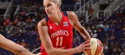 Elena Delle Donne scored 29 points for the Mystics in her return from injury on Tuesday. [Image via WNBA/YouTube]