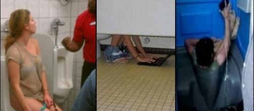 Momentos bizarros que aconteceram em banheiros.