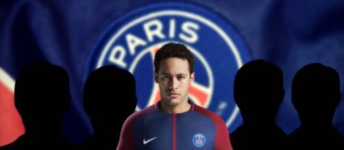Neymar con la camiseta del que podría ser su futuro club