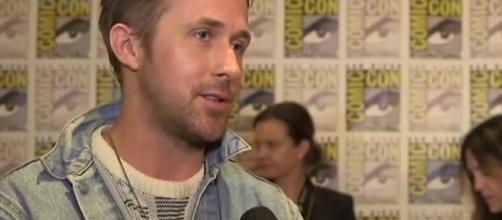 "Ryan Golsing admits being nervous in working with Harrison Ford in ""Blade Runner."" Image via YouTube/Variety"