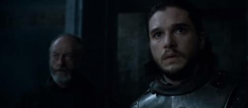 "Ser Davos and Jon Snow meet Daenerys Targaryen in ""Game of Thrones"" Season 7 Episode 3. (Photo:YouTube/GameofThrones)"