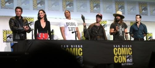 The 'Justice League' cast at the 2016 San Diego Comic-Con International via Gage Skidmore