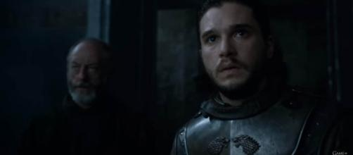 The new interpretation on the prince that was promised hint that either Daenerys or Jon could be Azor Ahai. screenshot: Game of Thrones/youtube