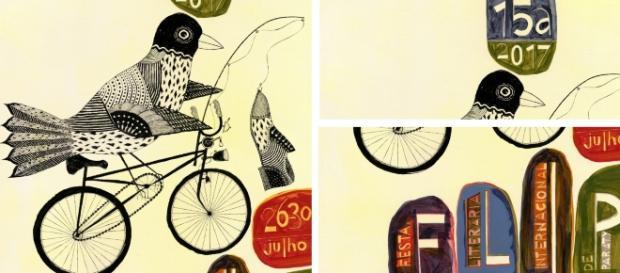 Detalhes da arte feita por Jeff Tisher para divulgação da Flip