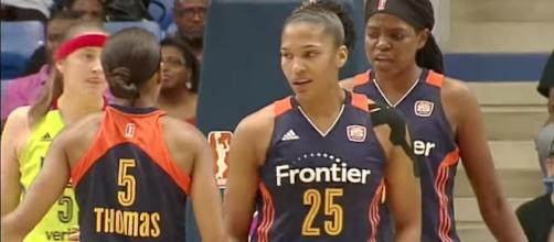 Alyssa Thomas led the Connecticut Sun to victory on Tuesday night. [Image via WNBA/YouTube]