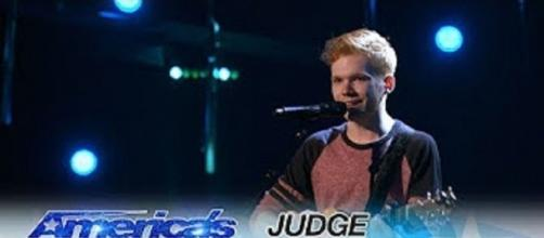 """Chase Goehring got an early """"Amrica's Got Talent"""" golden buzzer from DJ Khaled, and there was more great singing. Screencap AGT/YouTube"""