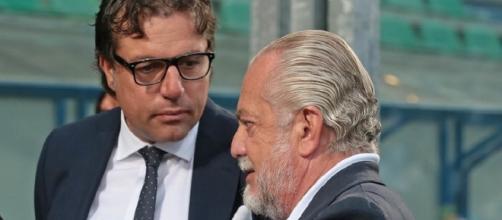 Cristiano Giuntoli e il patron azzurro De Laurentiis