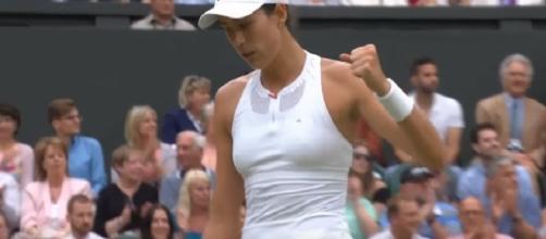 Garbine Muguruza/ Photo: screenshot via Wimbledon official channel on YouTube