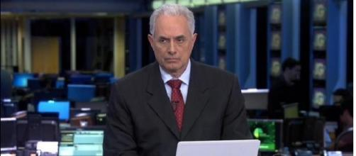 Jornalista William Waack de 'cara fechada'