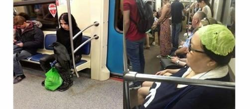 Momentos inusitados flagrados no metrô (Foto: Reprodução)