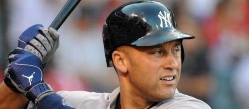 The Captain Derek Jeter getting ready to unleash his swing