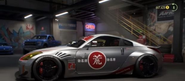 """Customized Nissan 350z in """"Playback"""" Trailer. Credit: youtube.com - Need for Speed"""