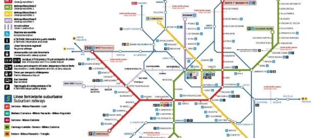 La rete metropolitana di Milano ATM