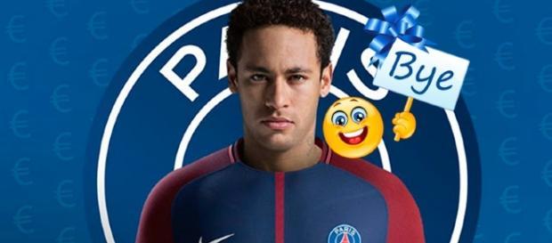 Neymar ante la posible partida al PSG