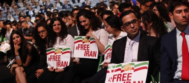 Paris, July 1, 2017: Tens of thousands rally for a Free Iran, urging world to stand with people of Iran and organized opposition   Credit: TME