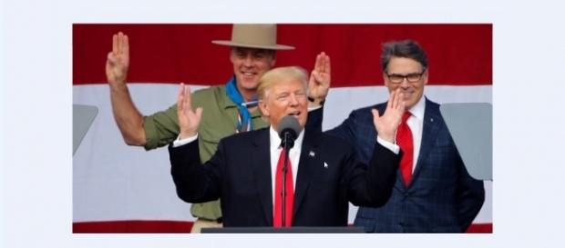 Trupp egged thousands of American boy scouts to boo Obama. Image credit - MRSUPERBOY223/YouTube.