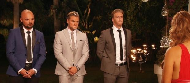 V.l.: Niklas, Johannes und David - wen Jessica auswählt, wurde bereits bekannt gegeben / Foto: MG RTL D