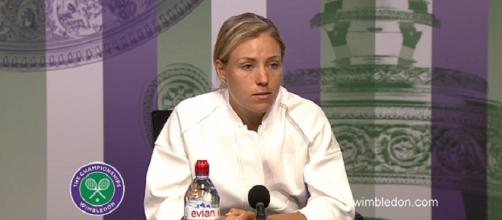 Angelique Kerber lost the No. 1 spot after Wimbledon/ Photo: screenshot via Wimbledon official channel on YouTube