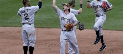 Boston Red Sox Celebrating | by Keith Allison
