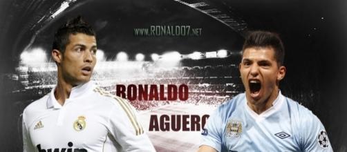Cristiano Ronaldo e Sergio Aguero, entrambi affiancati al mercato del Milan