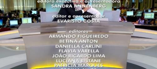 Evaristo Costa e Sandra Annenberg se despedem no Jornal Hoje