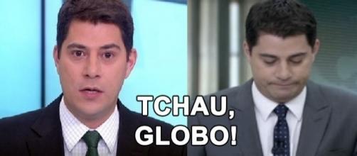 Evaristo Costa gravou vídeo se despedindo da Globo. (Imagem: Google)