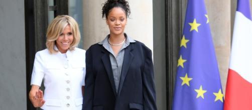 La chanteuse Rihanna en France