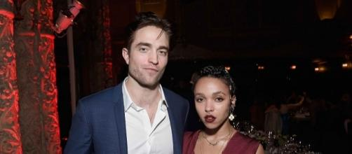 "Robert Pattinson and FKA Twigs are ""kind of"" engaged. [Image via YouTube/Paparazzi]"