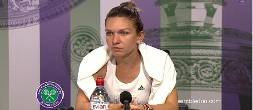 Simona Halep/ Photo: screenshot via Wimbledon channel on YouTube