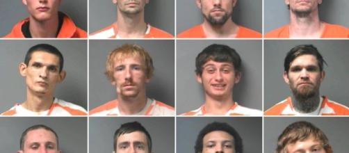 The twelve inmates escaped Walker County Jail - via Walker County Sheriff's Office