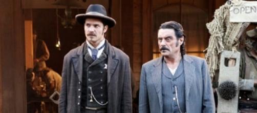 Timothy Olyphant and Ian McShane led the cast of HBO's 'Deadwood.' ~ Facebook/Deadwood