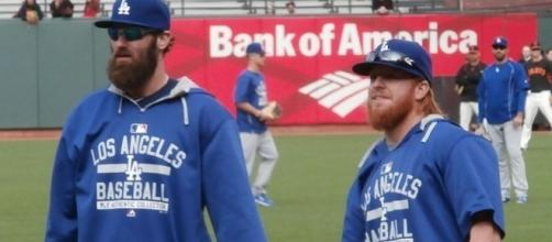 Turner (right) alongside Scott Van Slyke. - Wikipedia
