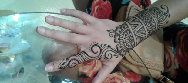 Henna tattoo from a local Henna Shoppe - Lauren Butler's photos - own work