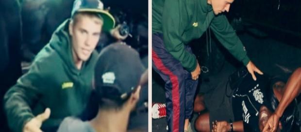 Justin Bieber atropela fotógrafo (Foto: Reprodução)