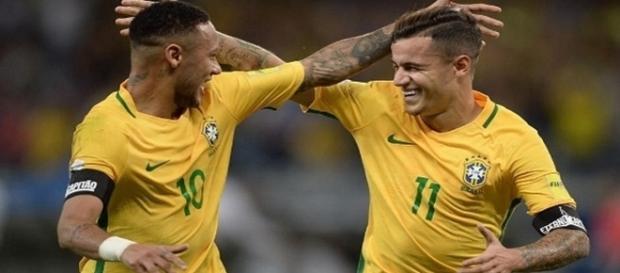 Neymar y Coutinho son grandes amigos. Foto EFE
