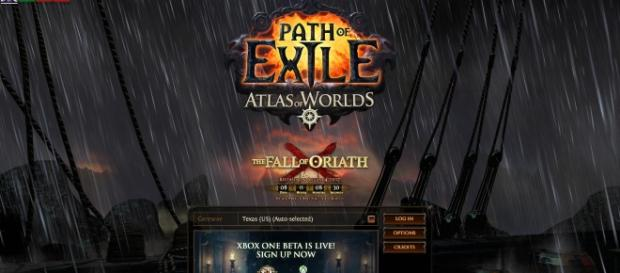 """Path of Exile"" countdown to ""The Fall of Oriath"" - Picture screengrabbed from writers Steam account"