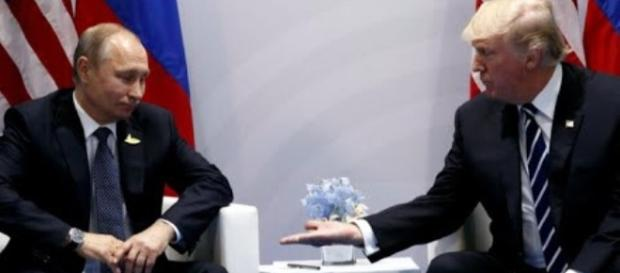 Putin and Trump discussing during G20 (via YouTube- CBS News)