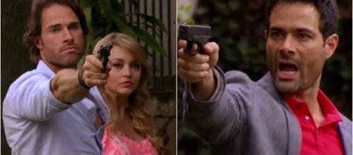 Alessandro e José Luís se ameaçam com armas
