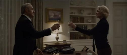 Claire Underwood announces her presidency in 'House of Cards' season 5. [Image via YouTube/Netflix]