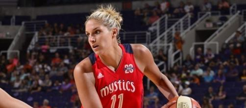 Elena Delle Donne and the Mystics host the Sun in an Eastern Conference battle on Friday. [Image via WNBA/YouTube]