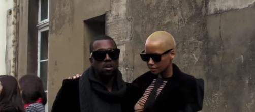 Kanye West and Amber Rose photographed together in the past - YouTube/Antoine Mangenot