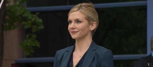 Rhea Seehorn plays Kim Wexler on 'Better Call Saul' on AMC. ~ YouTube/AMC