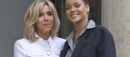 Rihanna meets French president Emmanuel Macron - (Flickr/celebrityabc)