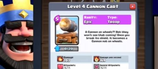 "The latest ""Clash Royale"" card: The Cannon Cart - YouTube/Chief Pat-Clash Royale"