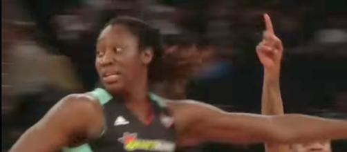 Tina Charles and the Liberty visit the Indiana Fever on Friday night. [Image via WNBA/YouTube]