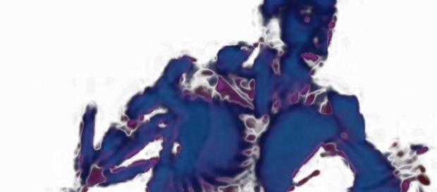 Foto de los músculos del cuerpo humano en negativo, fabianfloram@gmail.com