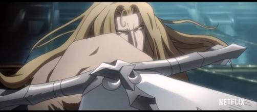 Alucard holding sword Credit: YouTube.com - Zero Media